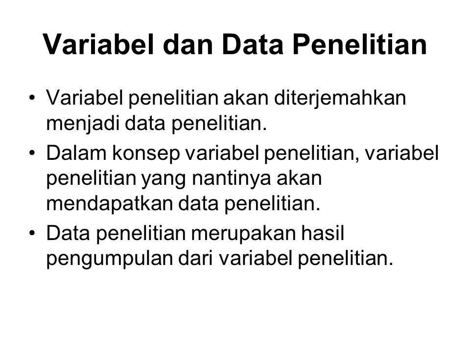 Variabel dan Data Penelitian
