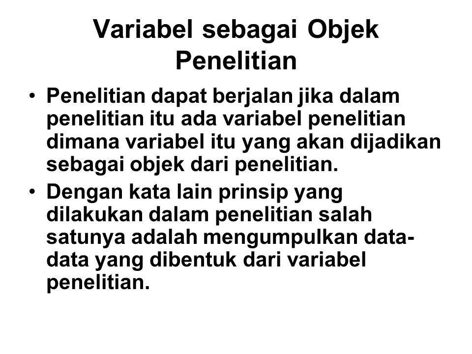 Variabel sebagai Objek Penelitian