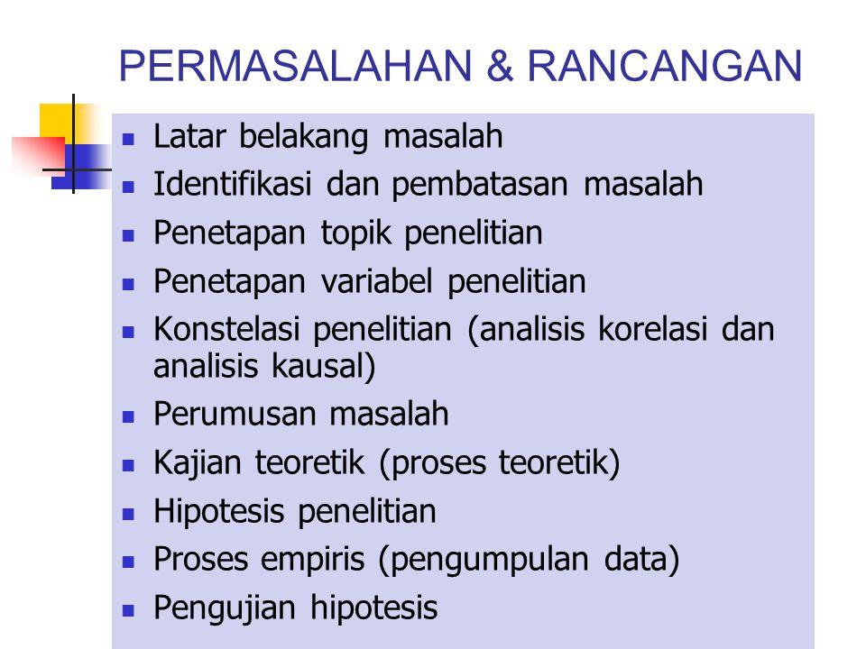 PERMASALAHAN & RANCANGAN