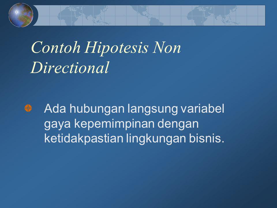 Contoh Hipotesis Non Directional