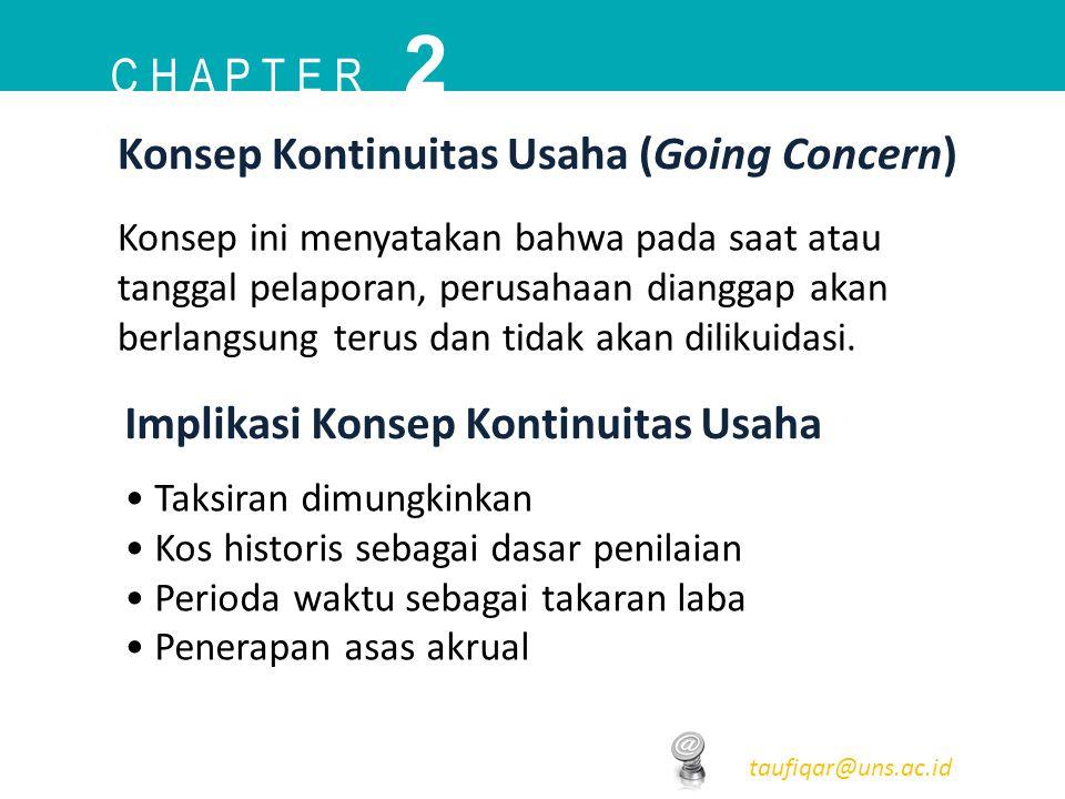 2 C h a p t e r Konsep Kontinuitas Usaha (Going Concern)