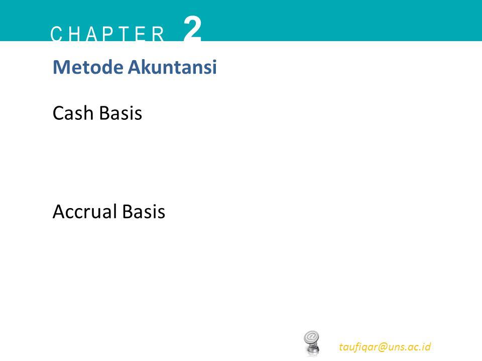 2 C h a p t e r Metode Akuntansi Cash Basis Accrual Basis