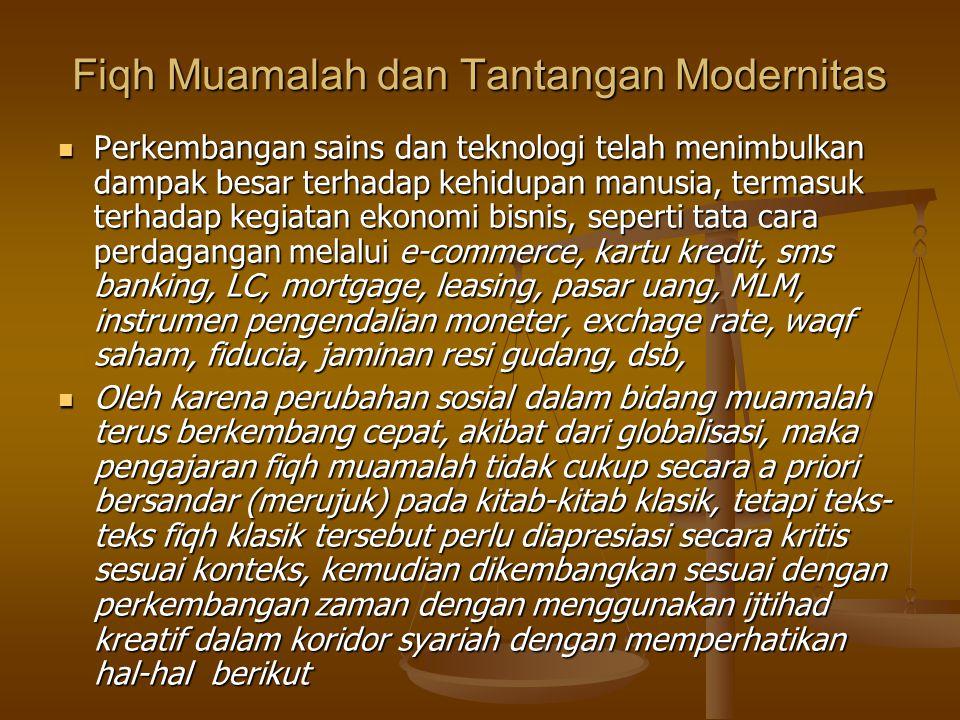 Fiqh Muamalah dan Tantangan Modernitas