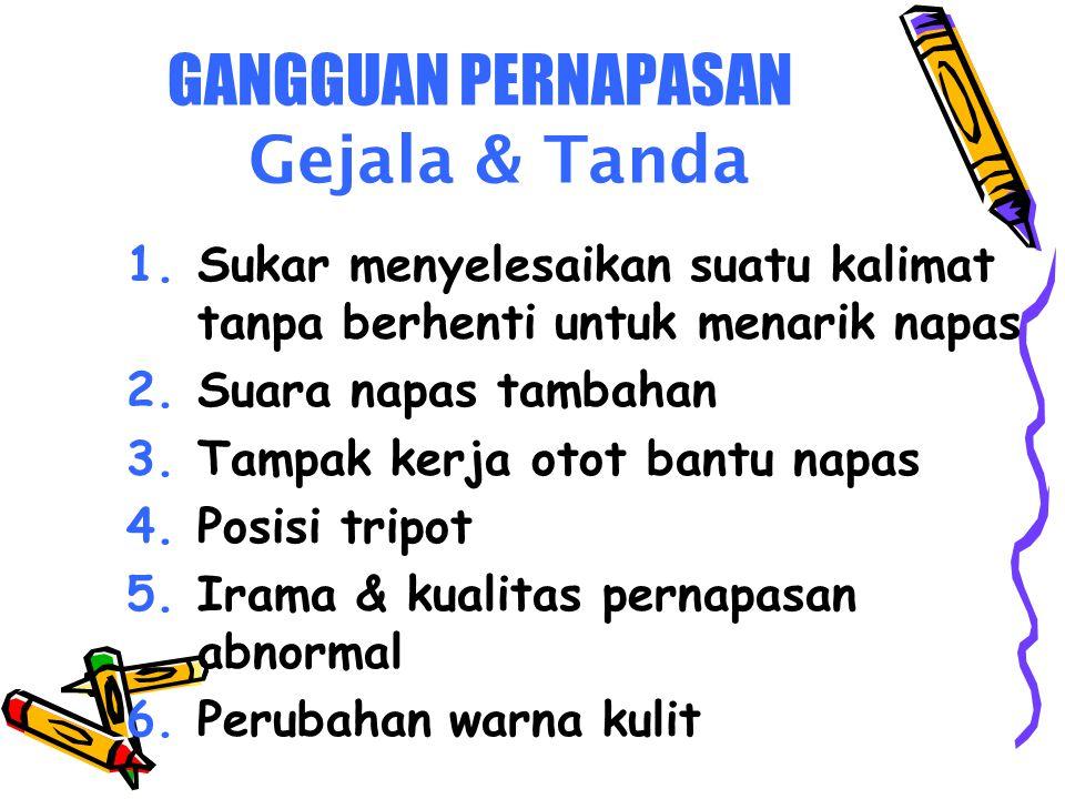 GANGGUAN PERNAPASAN Gejala & Tanda