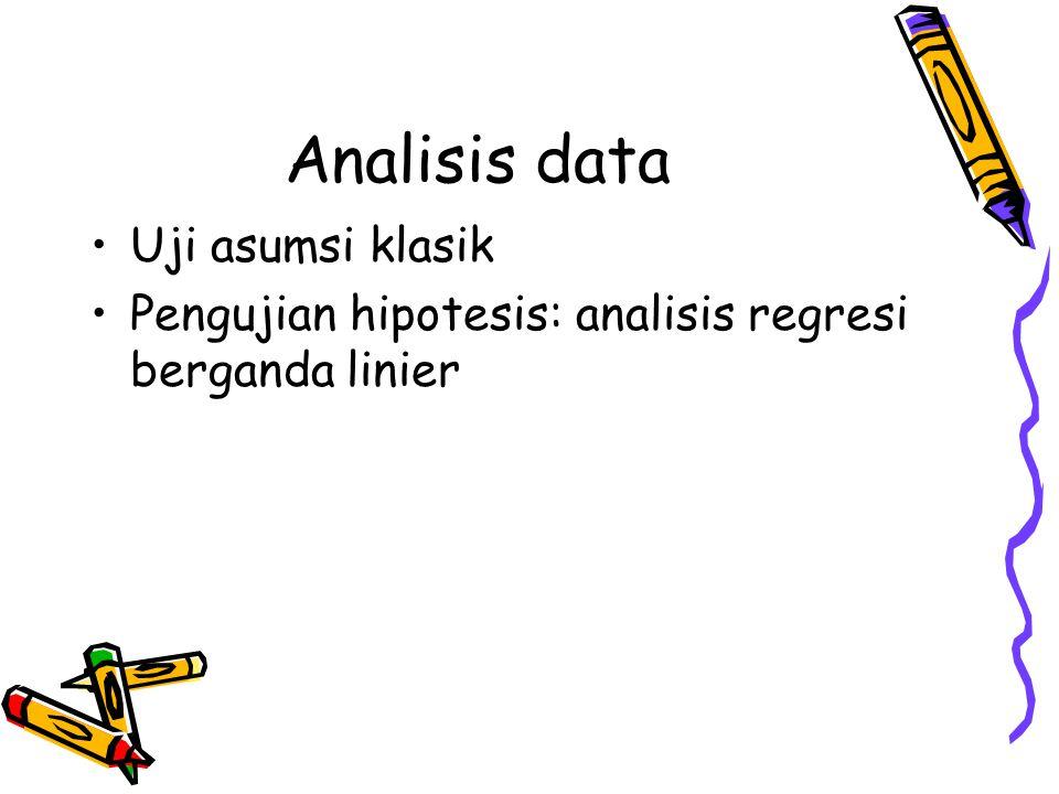 Analisis data Uji asumsi klasik