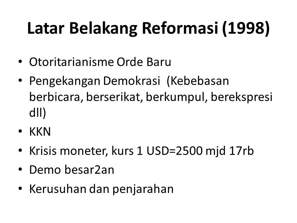 Latar Belakang Reformasi (1998)