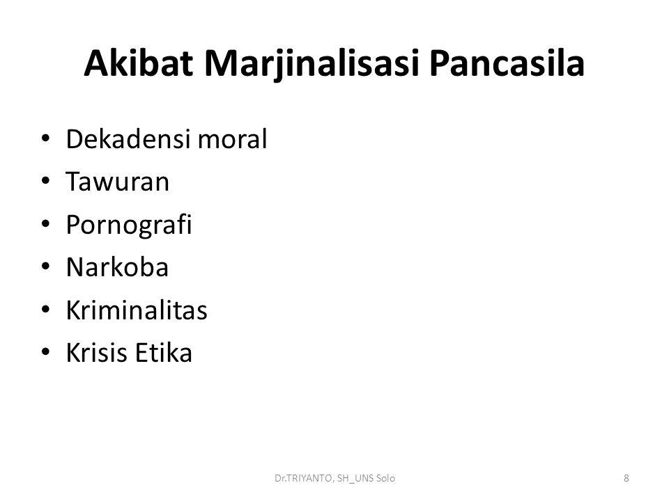 Akibat Marjinalisasi Pancasila