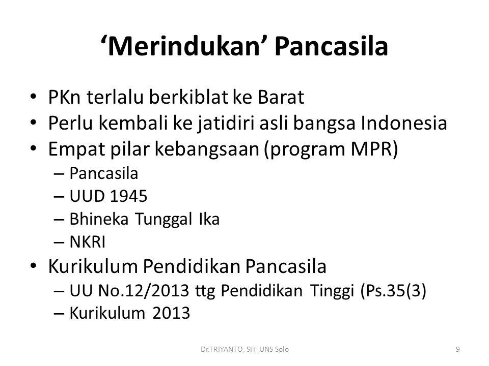 'Merindukan' Pancasila