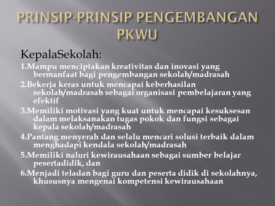 PRINSIP-PRINSIP PENGEMBANGAN PKWU