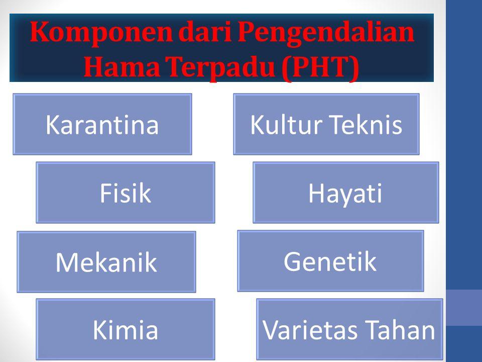 Komponen dari Pengendalian Hama Terpadu (PHT)