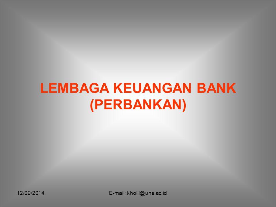 LEMBAGA KEUANGAN BANK (PERBANKAN)