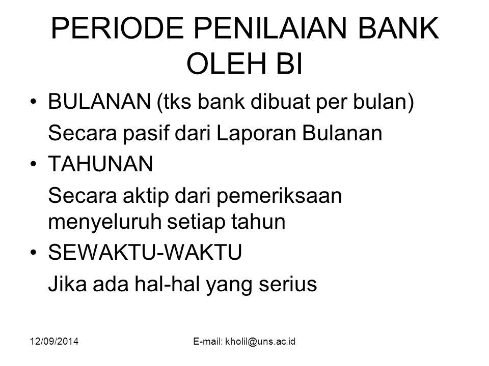 PERIODE PENILAIAN BANK OLEH BI