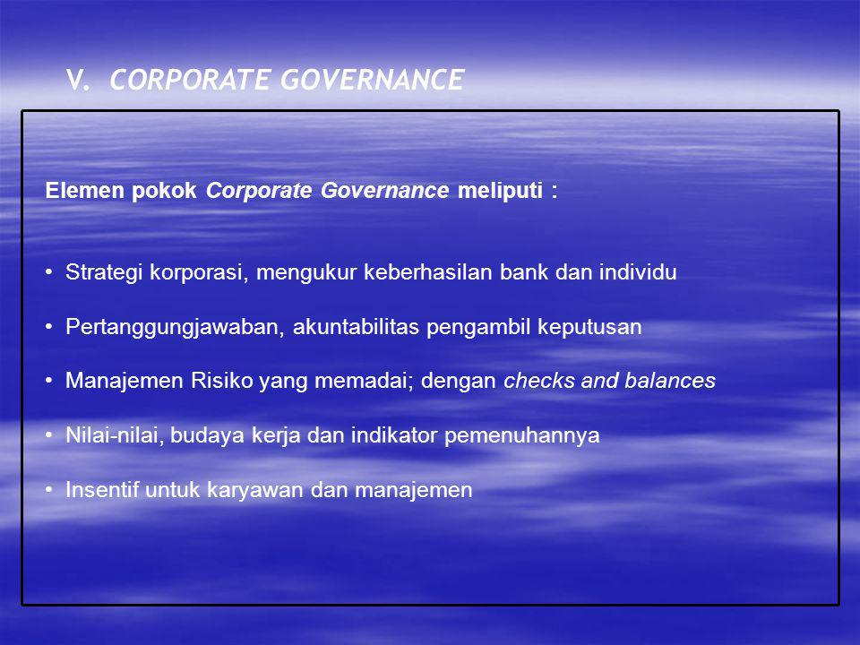 V. CORPORATE GOVERNANCE