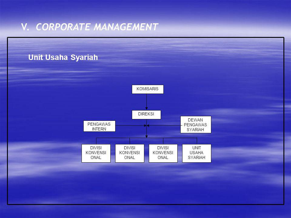 V. CORPORATE MANAGEMENT