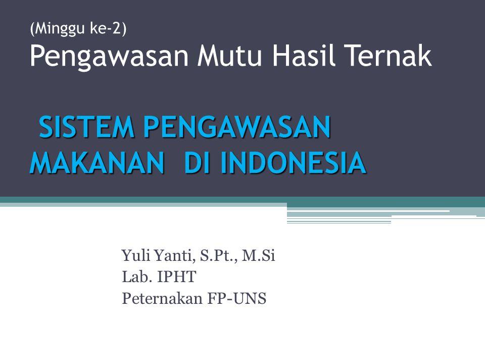 Yuli Yanti, S.Pt., M.Si Lab. IPHT Peternakan FP-UNS