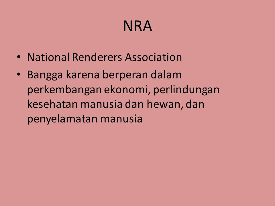 NRA National Renderers Association