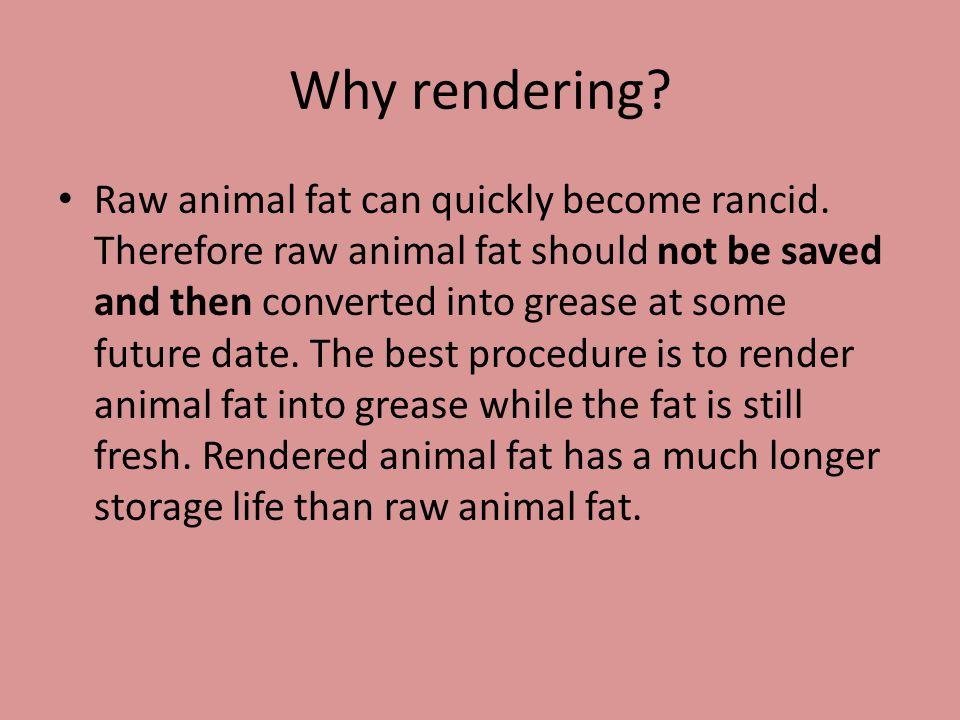 Why rendering