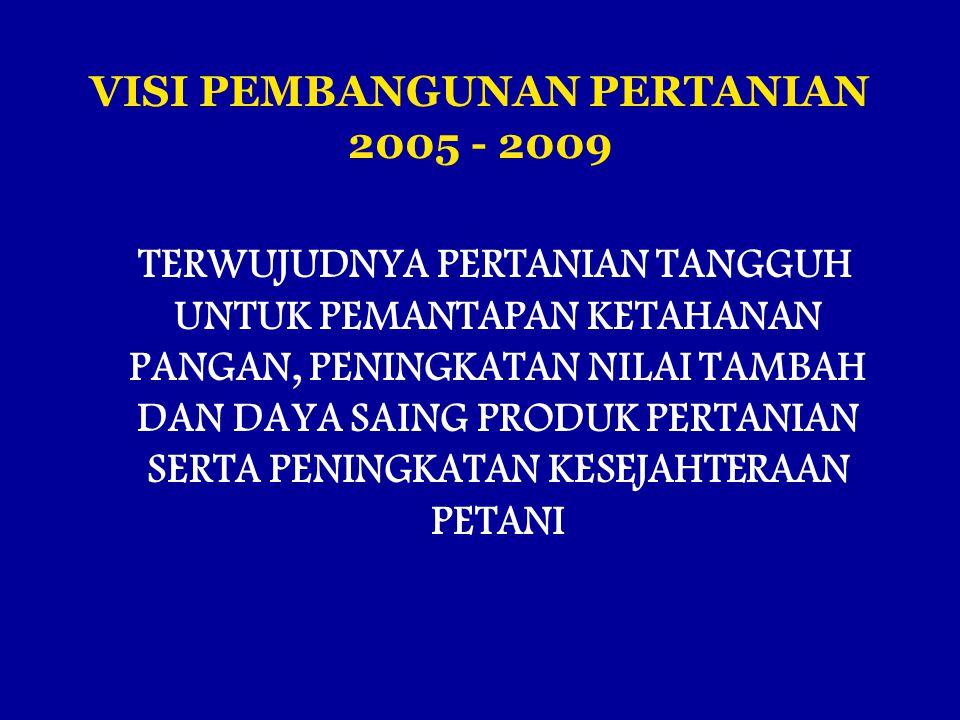 VISI PEMBANGUNAN PERTANIAN 2005 - 2009