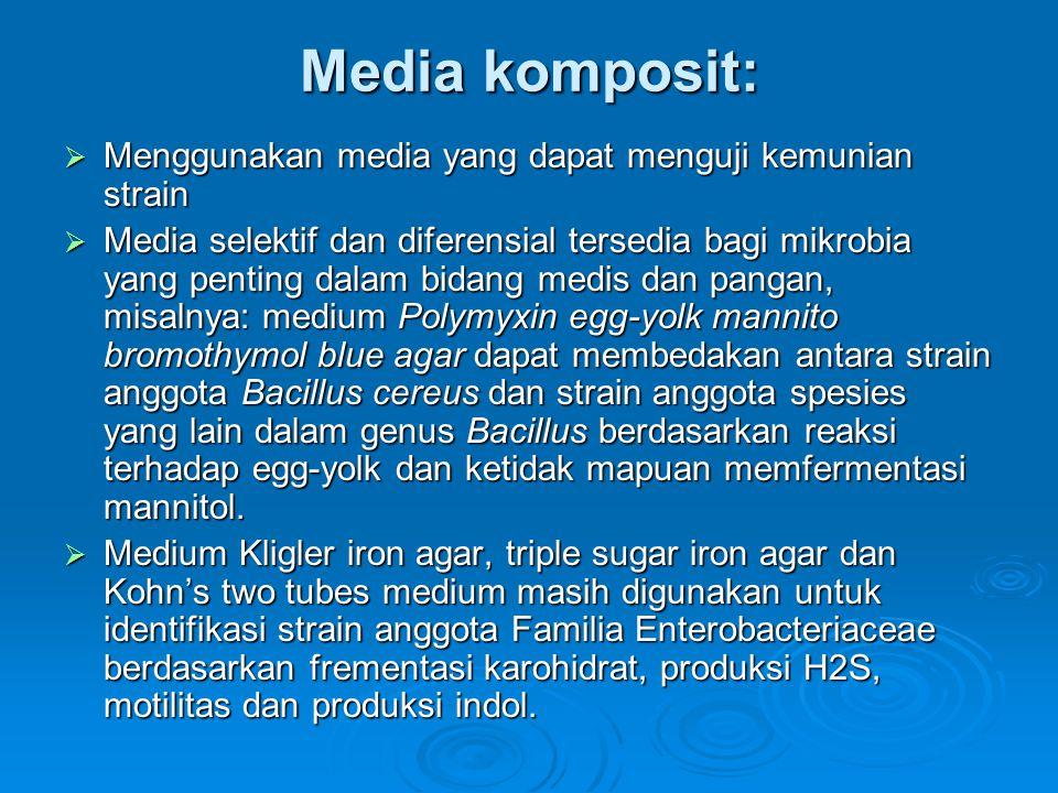 Media komposit: Menggunakan media yang dapat menguji kemunian strain