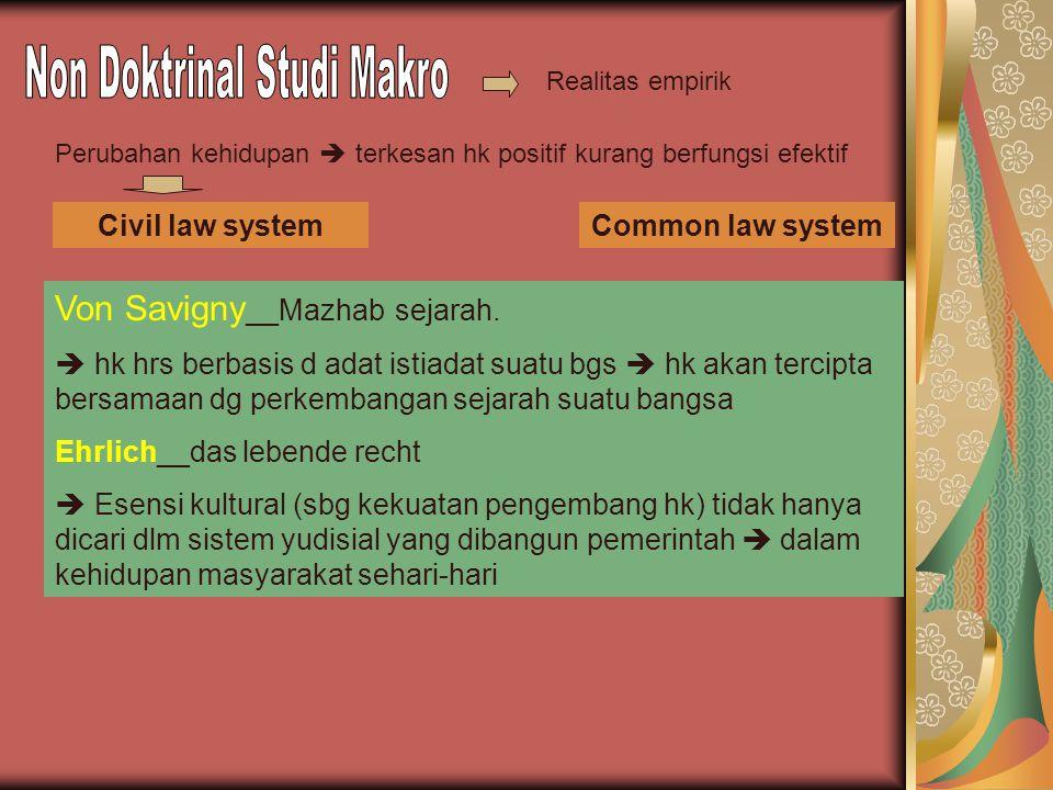 Non Doktrinal Studi Makro