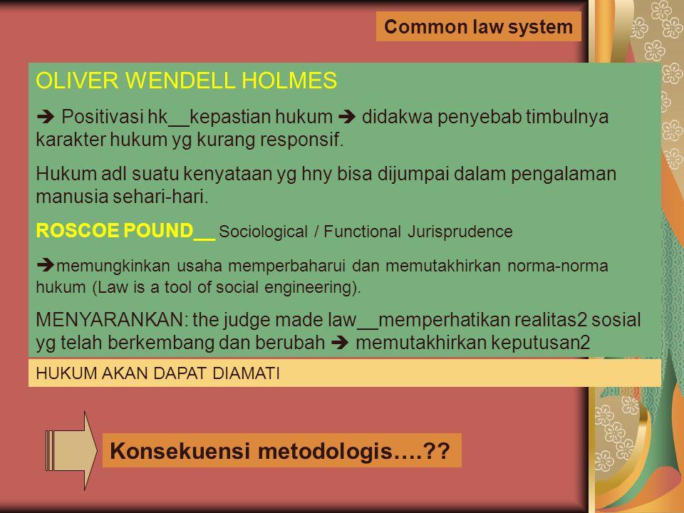 Konsekuensi metodologis….