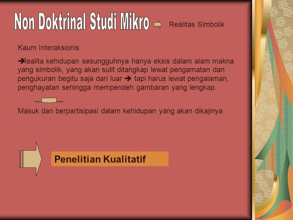 Non Doktrinal Studi Mikro