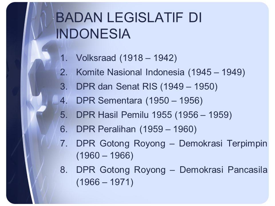 BADAN LEGISLATIF DI INDONESIA
