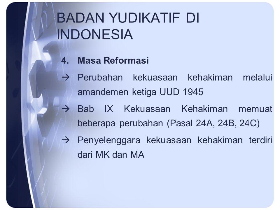 BADAN YUDIKATIF DI INDONESIA