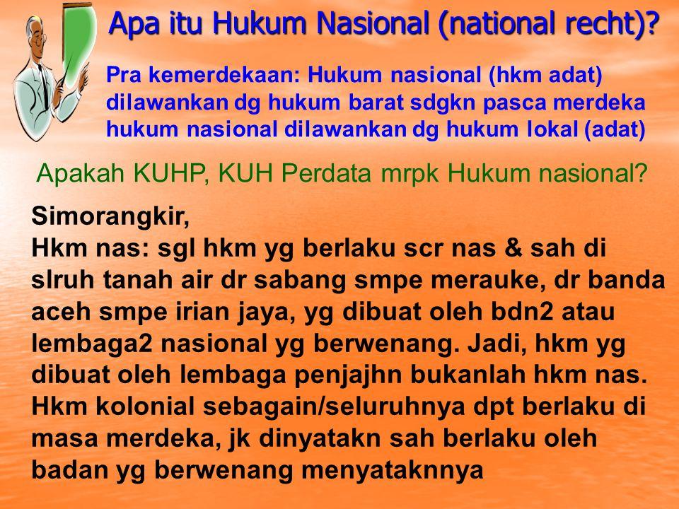 Apa itu Hukum Nasional (national recht)