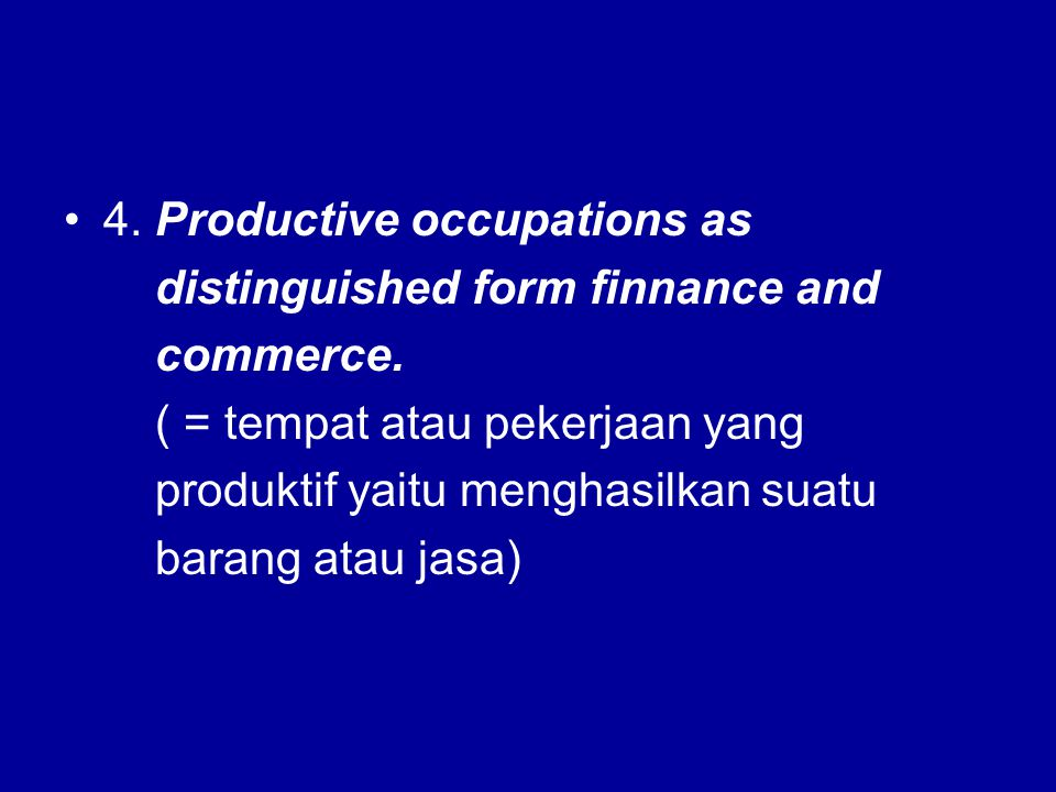 4. Productive occupations as