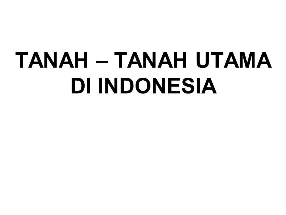 TANAH – TANAH UTAMA DI INDONESIA