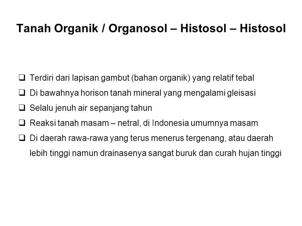 Tanah Organik / Organosol – Histosol – Histosol