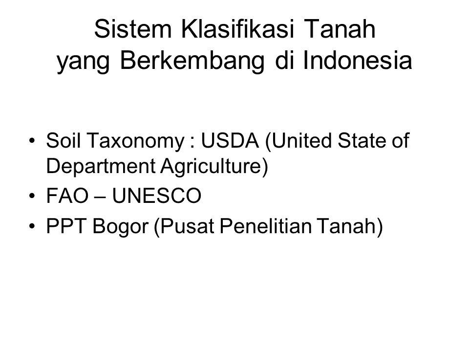 Sistem Klasifikasi Tanah yang Berkembang di Indonesia
