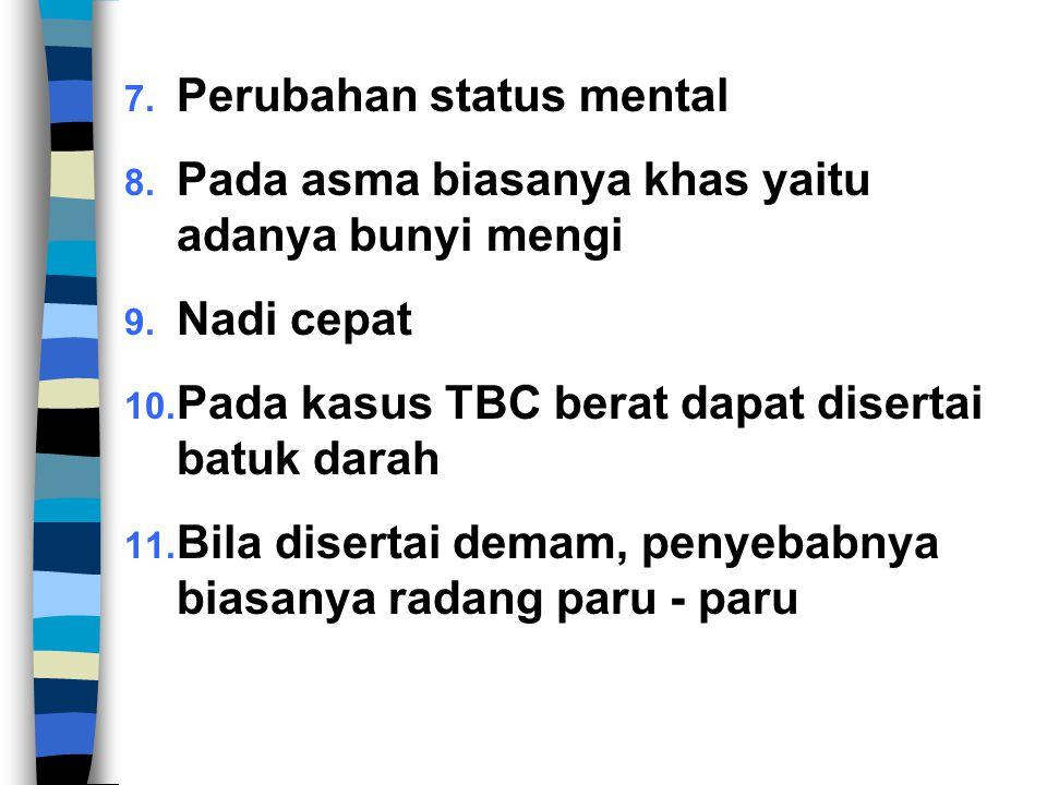 Perubahan status mental