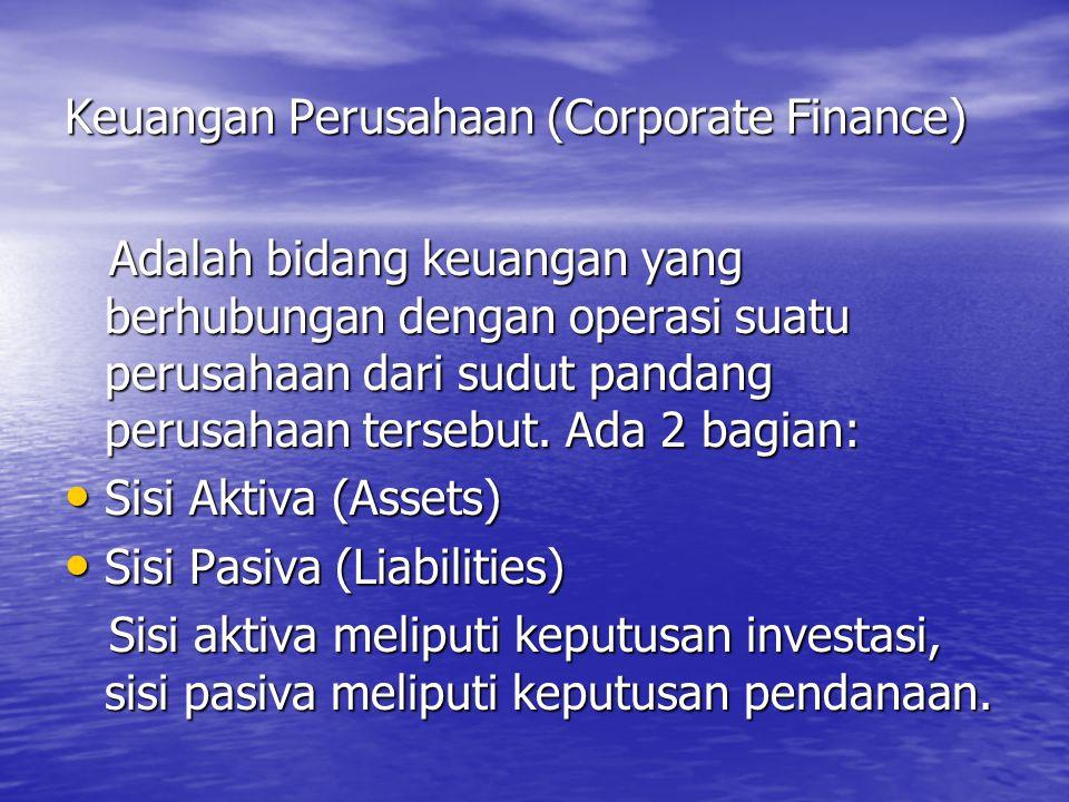 Keuangan Perusahaan (Corporate Finance)
