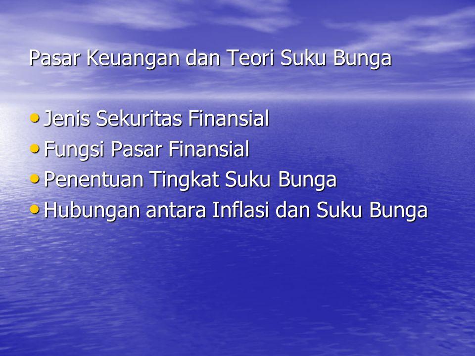 Pasar Keuangan dan Teori Suku Bunga