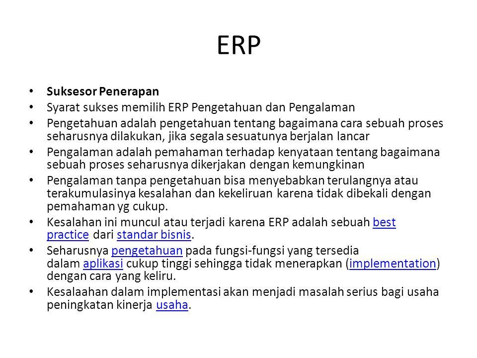 ERP Suksesor Penerapan