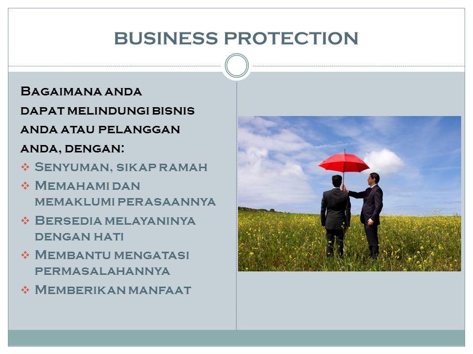 BUSINESS PROTECTION Bagaimana anda dapat melindungi bisnis