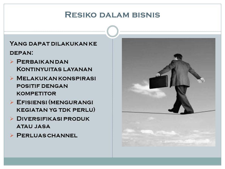 Resiko dalam bisnis Yang dapat dilakukan ke depan: