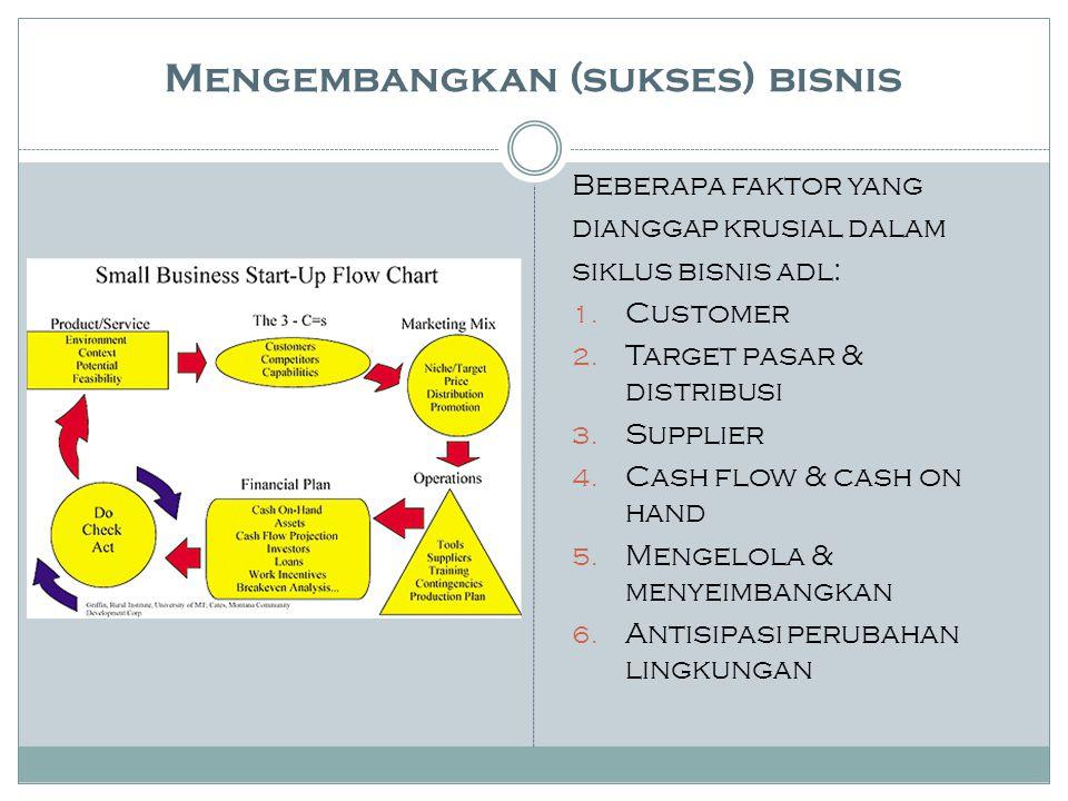 Mengembangkan (sukses) bisnis
