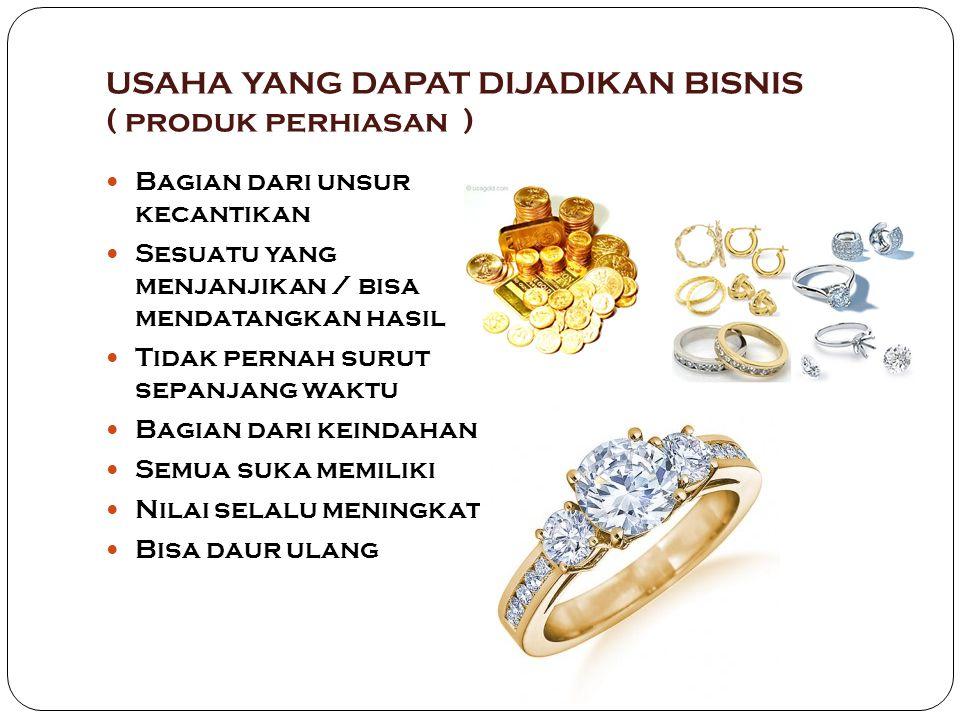 USAHA YANG DAPAT DIJADIKAN BISNIS ( produk perhiasan )