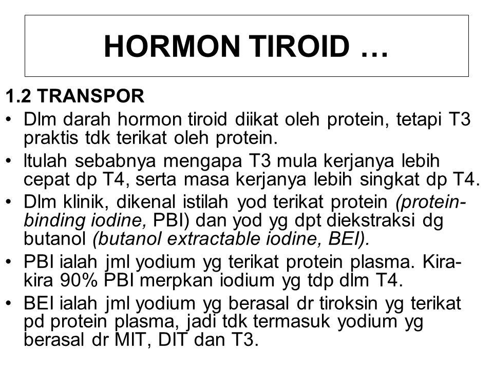 HORMON TIROID … 1.2 TRANSPOR
