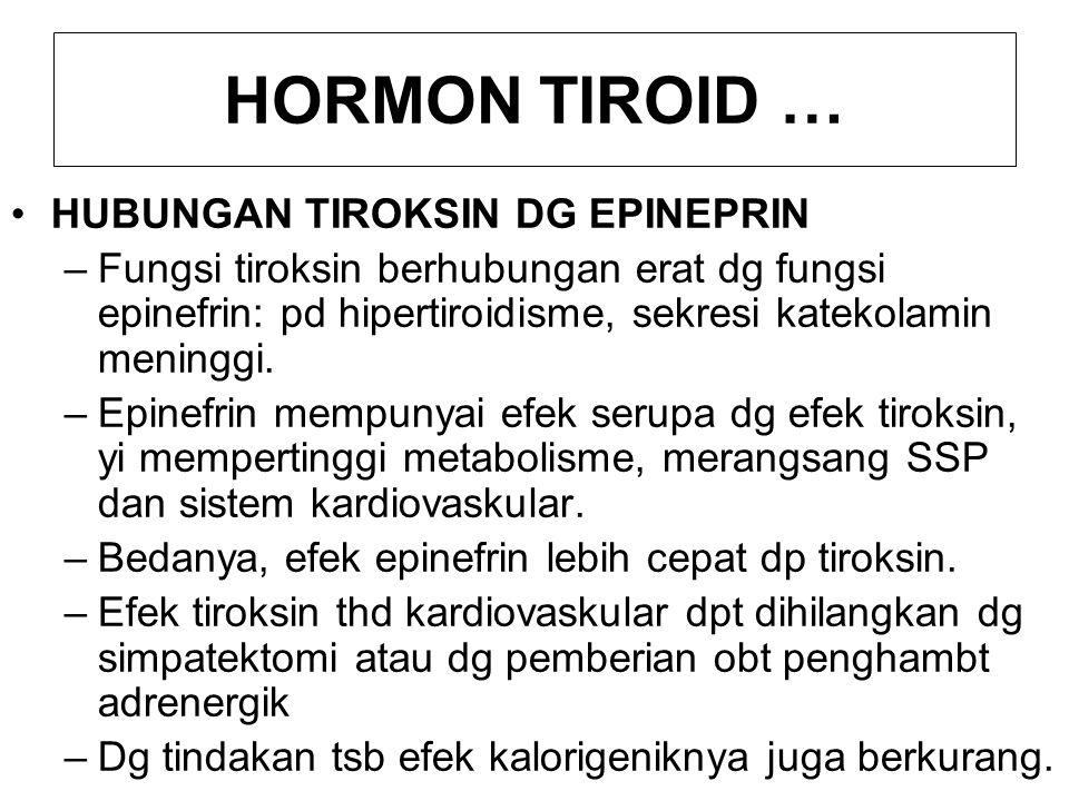 HORMON TIROID … HUBUNGAN TIROKSIN DG EPINEPRIN