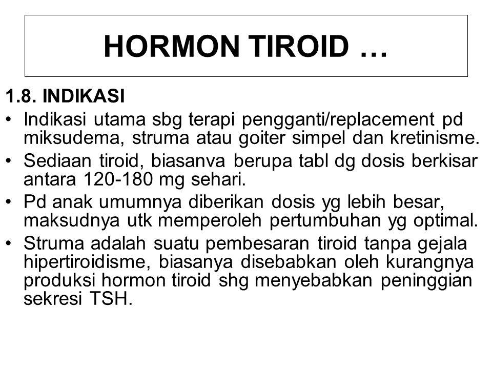 HORMON TIROID … 1.8. INDIKASI