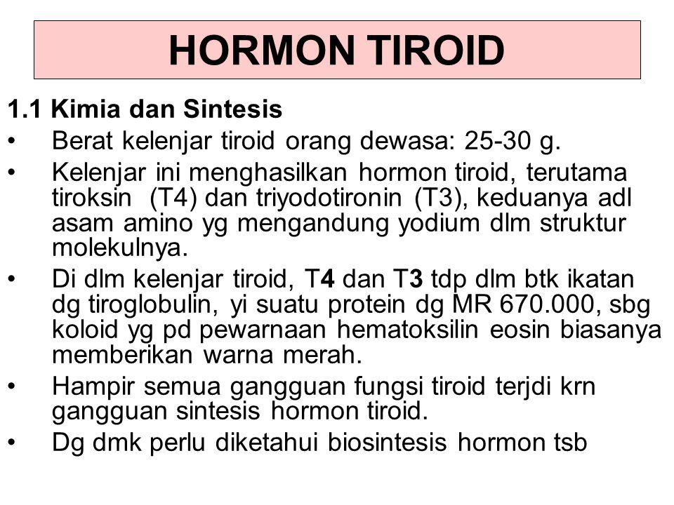 HORMON TIROID 1.1 Kimia dan Sintesis