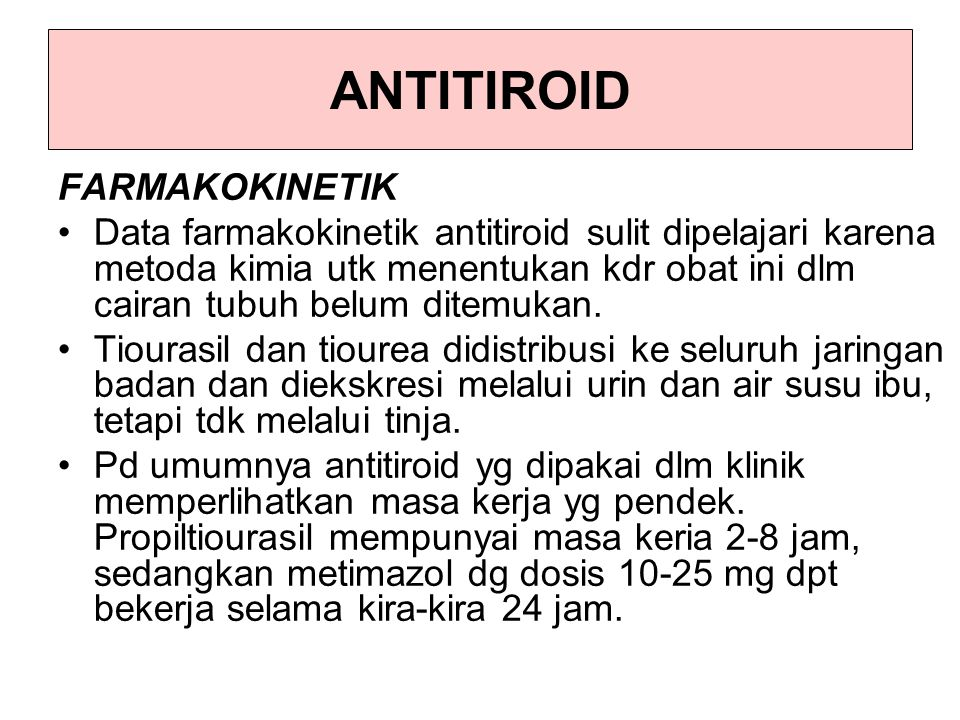 ANTITIROID FARMAKOKINETIK