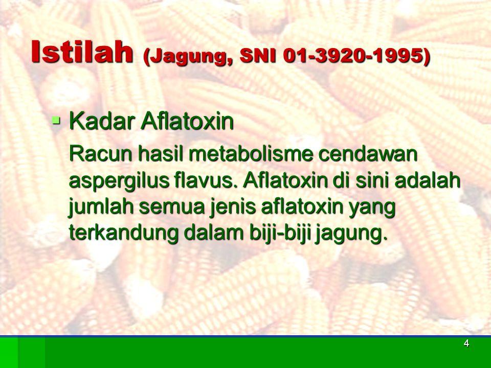 Istilah (Jagung, SNI 01-3920-1995)