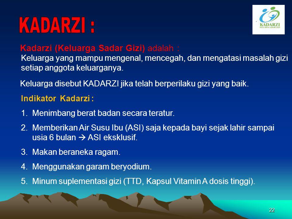 KADARZI :