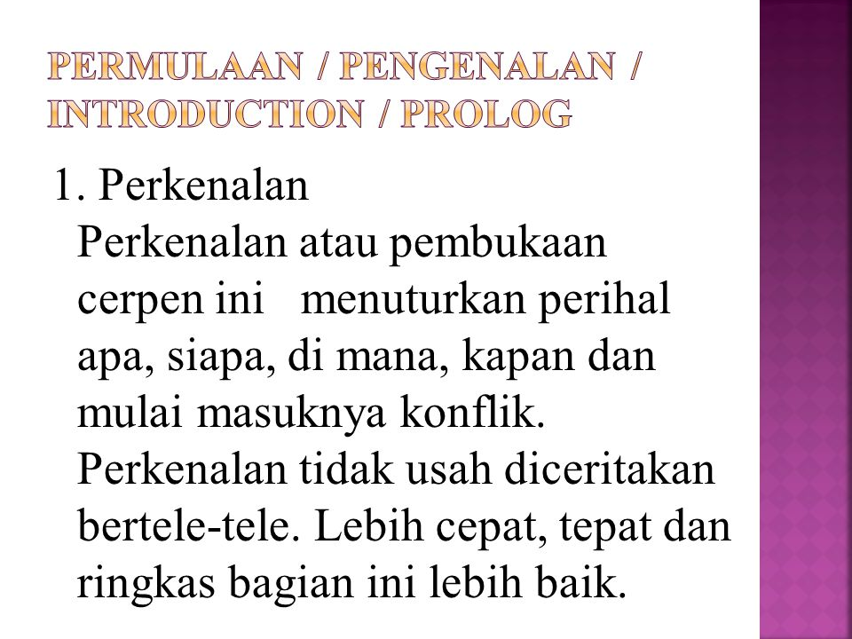 PERMULAAN / PENGENALAN / INTRODUCTION / PROLOG