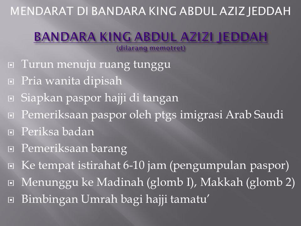 BANDARA KING ABDUL AZIZI JEDDAH (dilarang memotret)